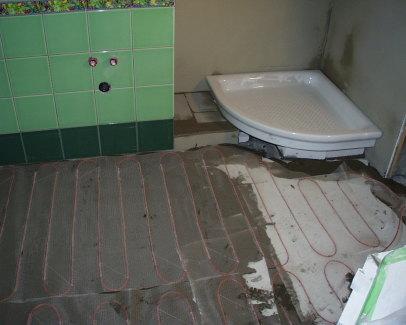 Primjer grijače mreže u kupaoni